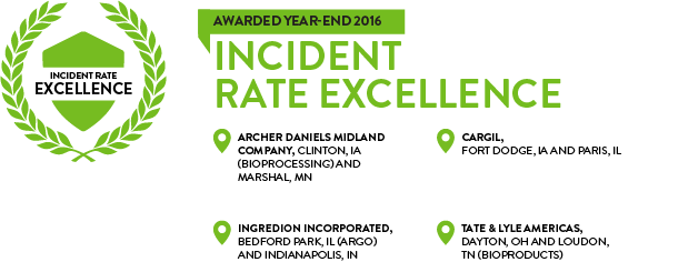 Corn Refiners Association Incident Rate Excellence Award