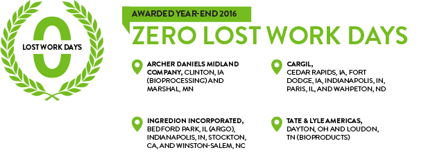 Corn Refiners Association Zero Lost Work Days Award