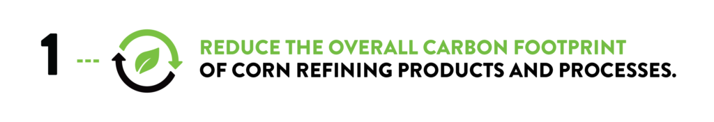 reduce the overall carbon footprint of corn refining products and processes