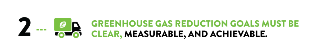 greenhouse gas reduction goals must be clear, measurable and achievable