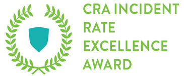 Workplace Safety Award - CRA Incident Rate Excellence Award