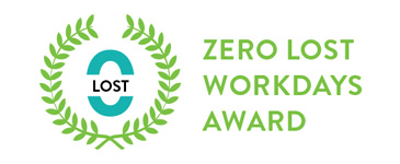 Workplace Safety Award - Zero Lost Workdays